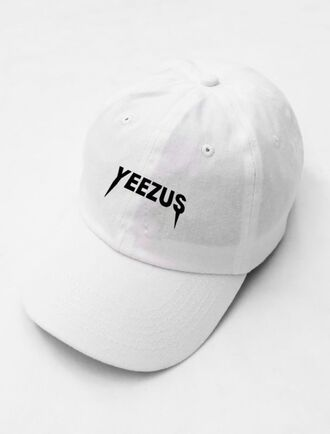 hat cap white cap snapback yeezus