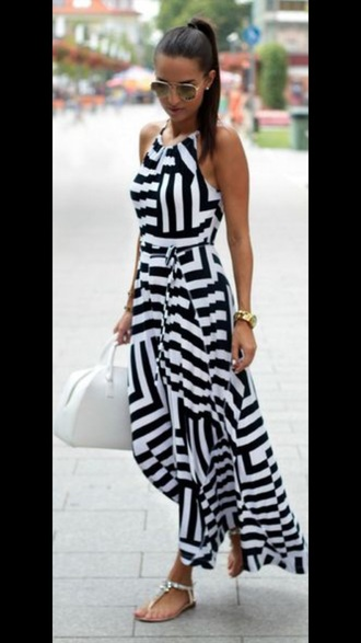 dress black and white dress maxi dress summer dress aliexpress
