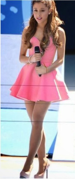 dress celebrity dresses ariana grande pink dress cute dress floater