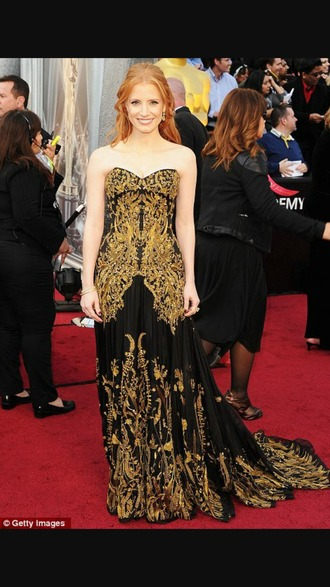 dress celebrity redcarpet look gold red carpet dress gown