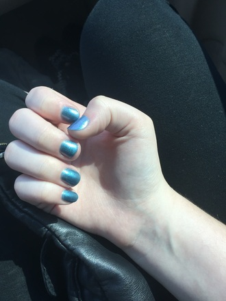 nail polish blue electric blue nails blue nails sparkle sparkly nail aesthetic