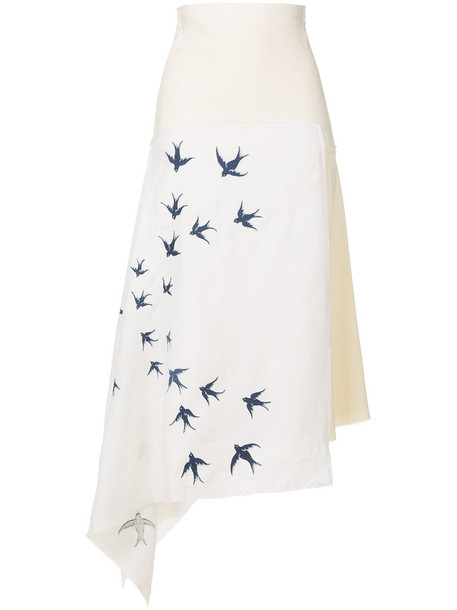 skirt embroidered women spandex white