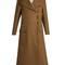 Peak-lapel fur-panelled canvas coat