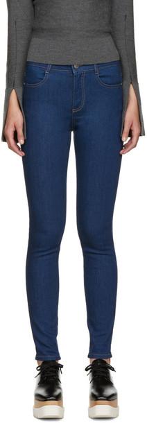 Stella McCartney jeans skinny jeans high blue