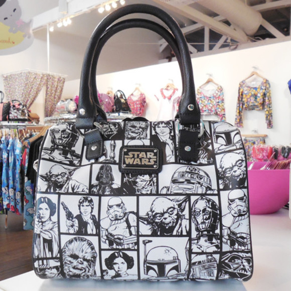 unique dope black and white bag star wars all over print weird dark vader