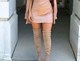 shoes nude thigh boots