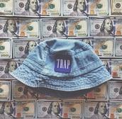 hat,trap,girl,bucket hat,tumblr clothes,bucket hat trap,denim,bomb,streetstyle