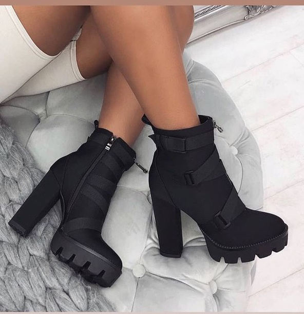 shoes black boots black boots combat boots love cute
