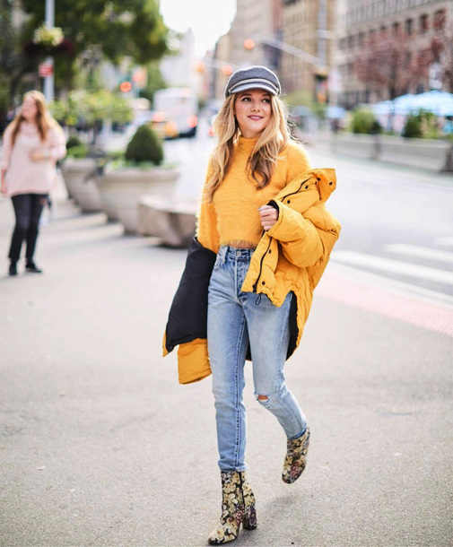jacket tumblr yellow yellow jacket sweater yellow sweater denim jeans blue  jeans boots ankle boots fisherman 8df3c045d460