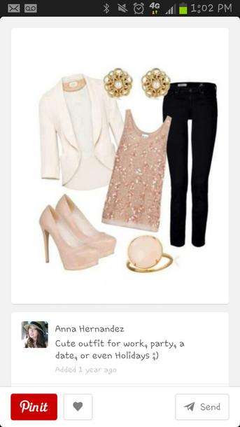 coat blouse shoes