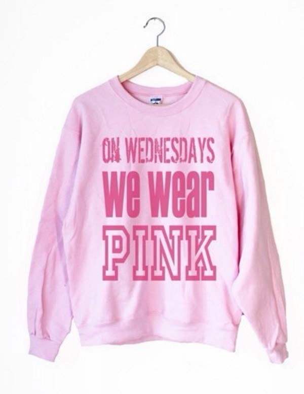 sweater on wednesdays we wear pink
