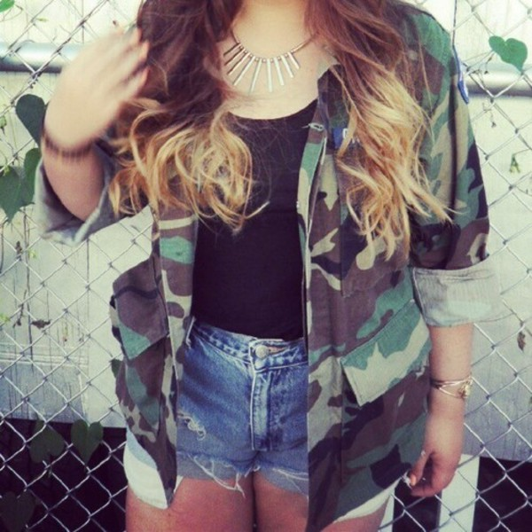 jacket camouflage army green jacket