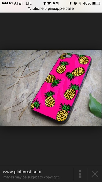 phone cover pink iphone 5 case pineapple print