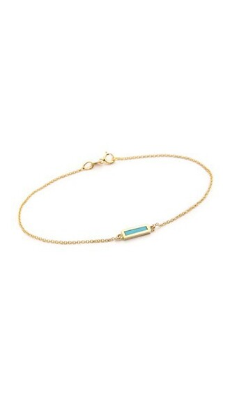 short gold turquoise jewels
