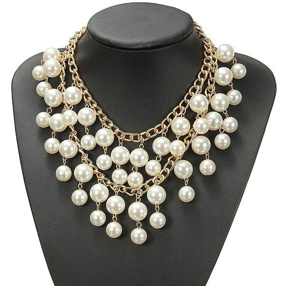 pearl jewels necklace banggood multilayer alloy