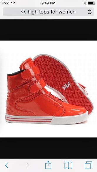 shoes orange high tops