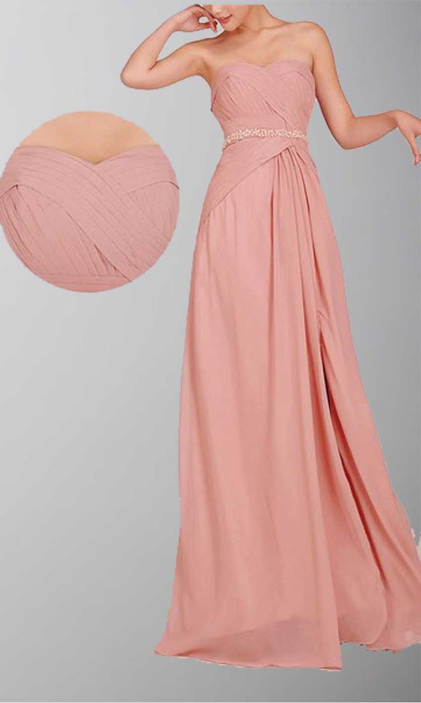 long prom dress long bridesmaid dress pastel pink side slit dresses sweetheart dress maid of honor dress