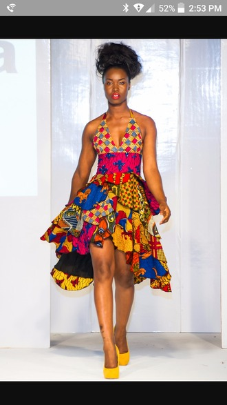 dress african american african print colorful