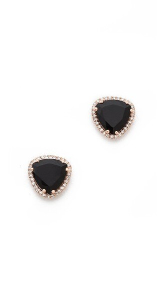earrings stud earrings black jewels