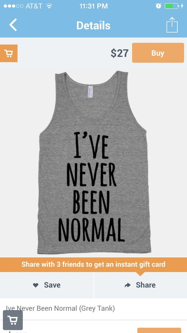 t-shirt grey t-shirt ive never been normal skreened cool text cool t-shirt