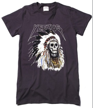 Aliexpress.com : buy authentic kanye west yeezus tour merch indian headdress skull dark grey white t shirt tee from reliable tee diy suppliers on cyclone