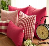 home accessory,home decor,decorative cushions,clock,plants,living room,pink cushions