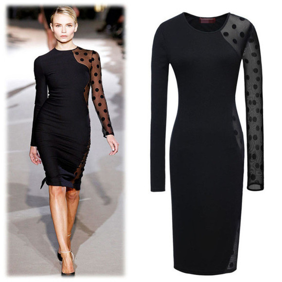 polka dots dress black black dress little black dress mesh mesh dress black mesh black mesh dress polka dot mesh dress