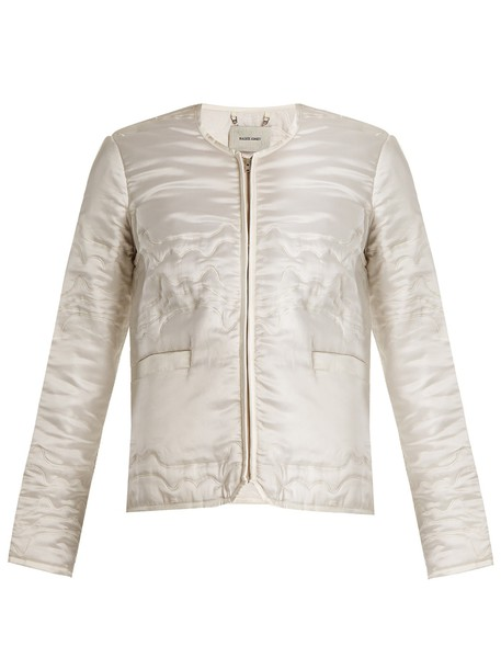 Rachel Comey jacket quilted bedroom satin cream
