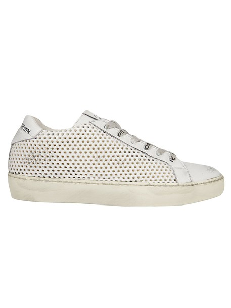 Leather Crown sneakers white shoes