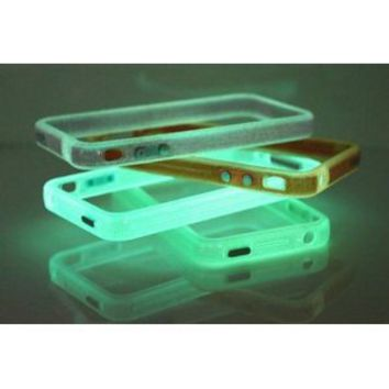 Blue Translucent Glow in the Dark Premium Bumper Case for Apple iPhone 4 on Wanelo