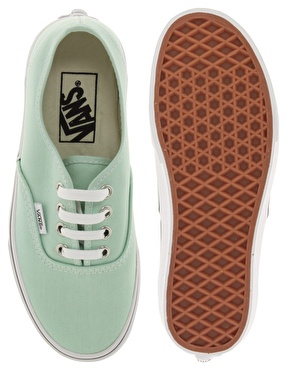 Vans | Vans Authentic Classic Mint Green Lace Up Trainers at ASOS