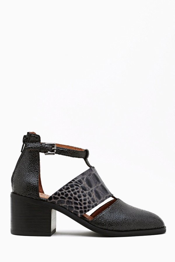 shoes boots jeffrey campbell crocodile cut out ankle boots