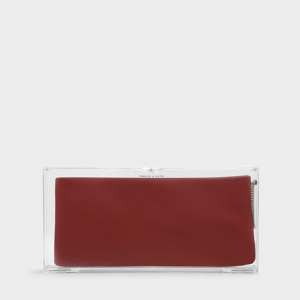 bag clutch red