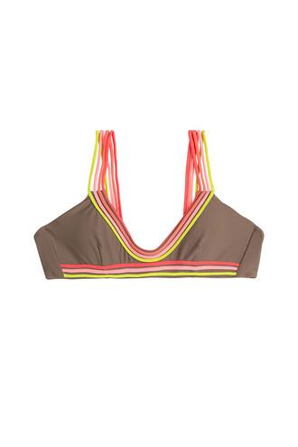 bikini bikini top brown swimwear