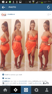 skirt,coral