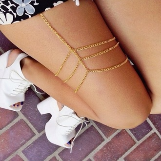 jewels chain link gold leg jewelry jewelry shoes