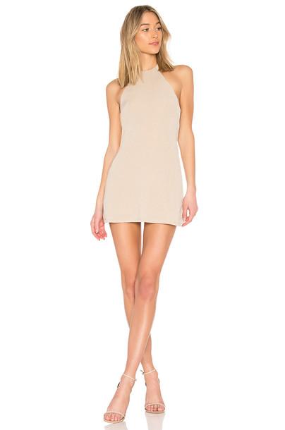 NBD dress back nude