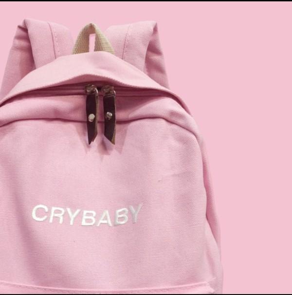 bag backpack melanie martinez pink pastel crybaby pink backpack
