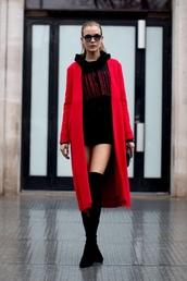 sweater,sweater dress,sweatshirt,hoodie,oversized,josephine skriver,model off-duty,streetstyle,Paris Fashion Week 2017,fashion week 2017,coat
