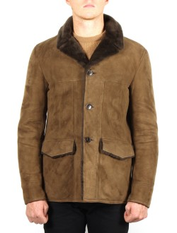 SAINT LAURENT Men's Shearling Mountie Jacket--