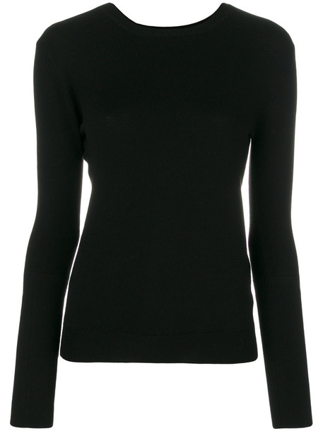 KHAITE jumper women spandex black wool sweater