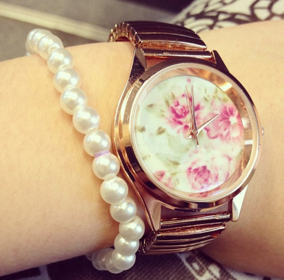 floral jewels watch flowerprinted print