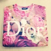 sweater,flower pullover,dior,sheinside,Pariscoming