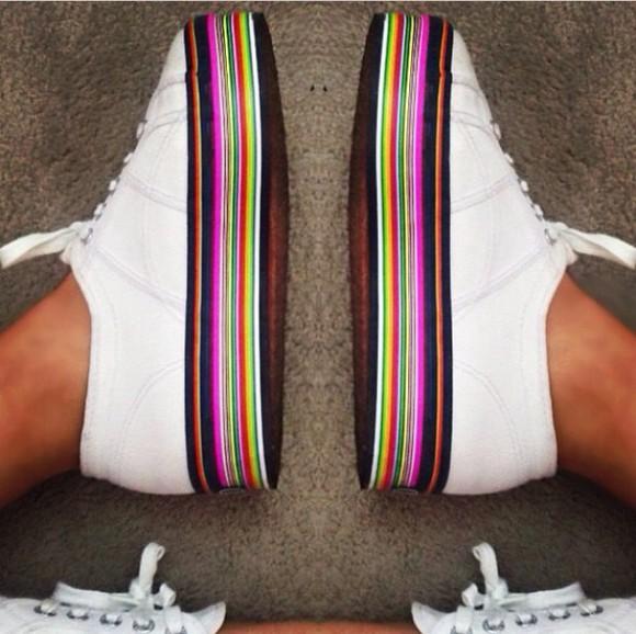 vintage chic multicoloured multicolour sneakers