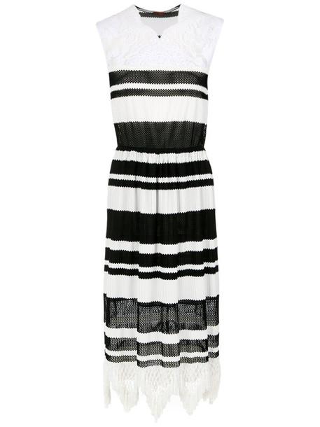 À La Garçonne dress women black knit