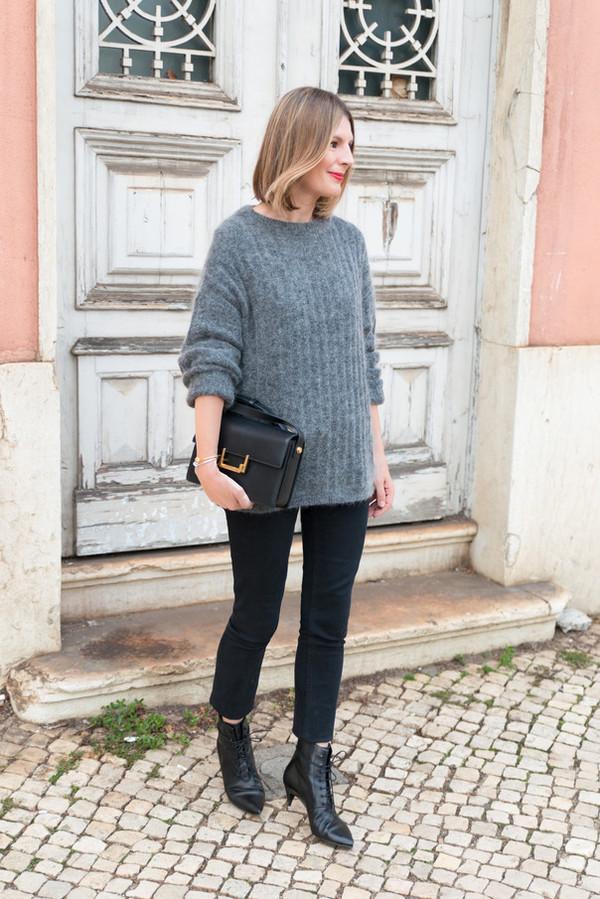 the working girl blogger jeans bag jewels black jeans sézane