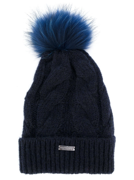 hat blue knit