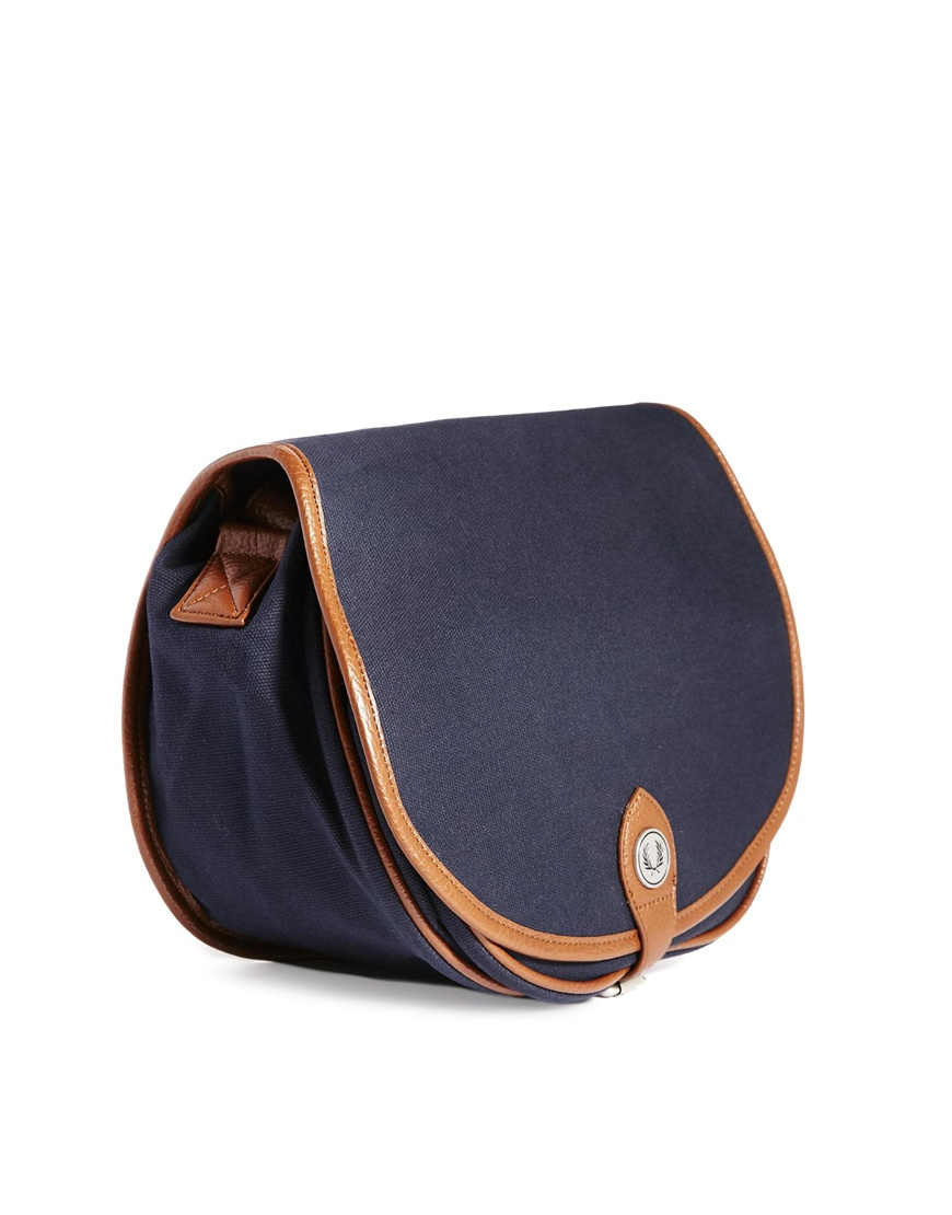 Fred Perry Cross Body Bag in Waxed Cotton at asos.com
