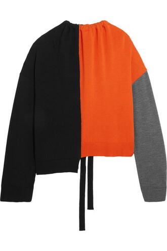 sweater wool sweater oversized wool orange