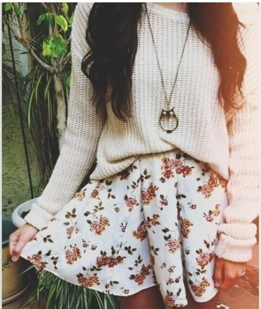 Skirt cute cute sweaters cute skirts winter sweater fall outfits boots skater skirt ...